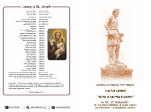 Apostolic letter on Saint Joseph